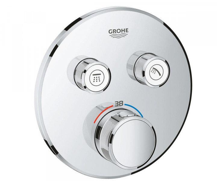 GROHE / Смеситель Grohe SmartControl 29119000 смеситель термостатический для скрытого монтажа на 2 выхода Хром.