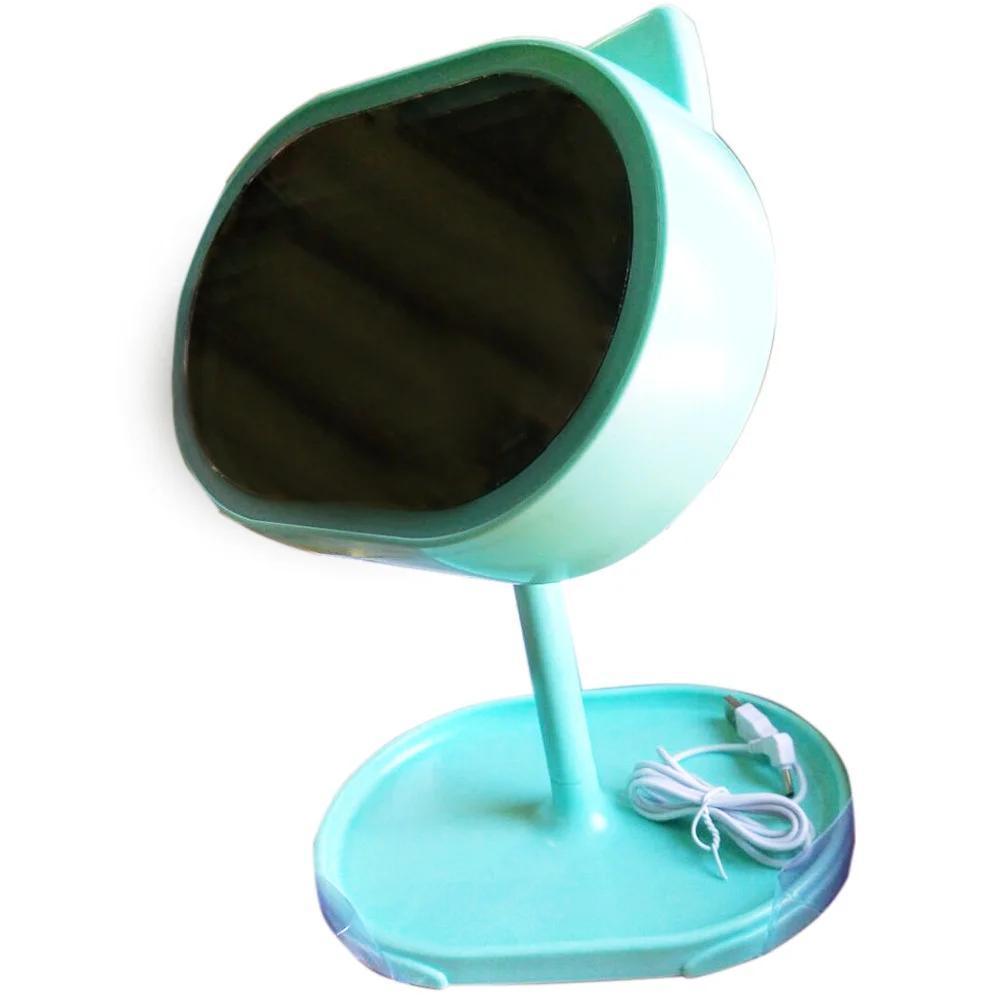 Led Mirror / Косметическое зеркало для макияжа с подсветкой и ночником Led mirror Голубое (101281)