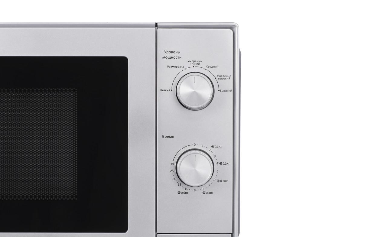 Микроволновая печь соло Beko MOC20100S - 20л./700Вт/механика/серебро (JN63MOC20100S)