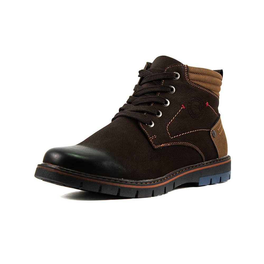 Ботинки зимние мужские Man`s P83096M-X38B коричневые (43)